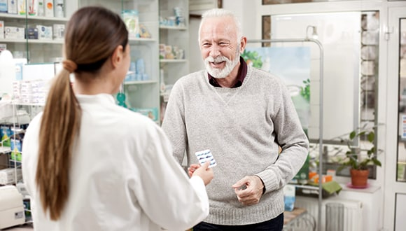 Man getting prescription medication